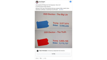 Fact Check: Lindell's 'Truth vs. The Big Lie' Numbers Flat-Out Contradict Douglas G. Frank's Theories About Phantom Voters Being Used To Inject Votes