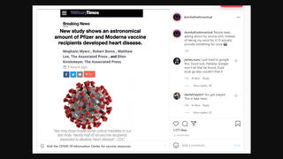 Fact Check: There Is NO Article On Military Times Website Saying COVID-19 Vaccines Cause Heart Disease -- Just A Fake Screenshot