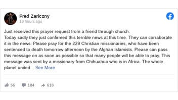 Fact Check: Prayer Request For 229 Christian Missionaries Is NOT Based On A Verified Current Event