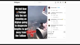 Fact Check: An Afghan Man Did NOT Ride On Airplane's Engine - It Was Photoshopped