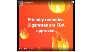 Fact Check: Cigarettes Are NOT 'FDA Approved'