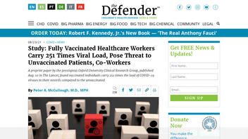 Fact Check: A Study Does NOT Say Fully Vaccinated Health Care Workers Carrying 251 Times Viral Load of Unvaccinated Workers Pose Threat To Unvaccinated Patients, Co-Workers