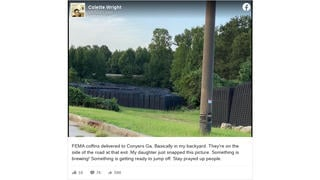 Fact Check: Photo Does NOT Show FEMA Coffins Delivered To Georgia Roadside Because 'Something Is Brewing'