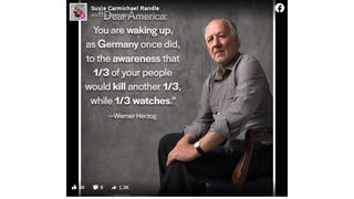Fact Check: Werner Herzog Did NOT Say America Is 'Waking Up, As Germany Once Did'