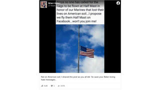 Fact Check: Flags Were NOT Left At Top Of Federal Flagpoles In Wake Of Kabul Airport Attack