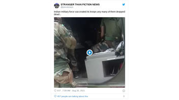 Fact Check: Video Of Emergency Care To Indian Soldiers Does NOT Show Any Connection To COVID-19 Vaccinations