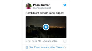 Fact Check: Twitter Video Does NOT Show Footage Of August 26, 2021 Bombing Outside Of Kabul Airport