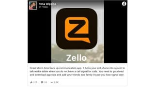 Fact Check: Zello App CAN Work Without A Cellular Signal -- But It CANNOT Work Without Some Sort Of Internet Connection