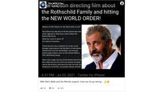 Fact Check: Mel Gibson Is NOT Directing A Film About The Rothschild Family And 'Hitting The New World Order'
