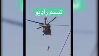 Fact Check: Video Footage Of Helicopter Does NOT Show Suspended Corpse Of Hanged Person