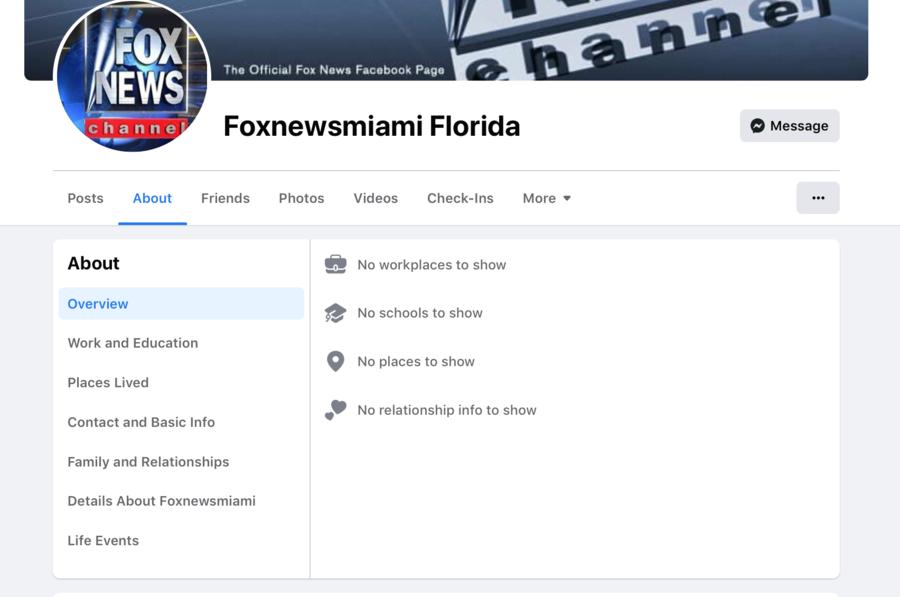 Fox News Miami FB Page Screenshot.png