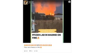 Fact Check: Pfizer Lab In Madrid Was NOT On Fire, A Nearby Composting Facility Was