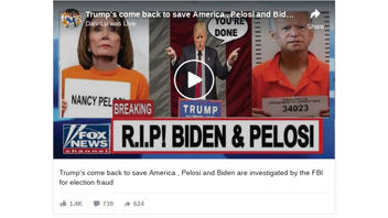 Fact Check: NO Evidence That Pelosi And Biden Are Being Investigated By The FBI For Election Fraud