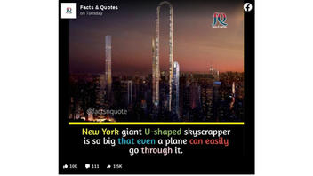 Fact Check: New York Giant U-Shaped Skyscraper Is Not Real -- It's Just A Proposed Design From 2017