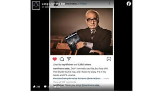 Fact Check: Martin Scorsese Is NOT Holding Zack Snyder's Justice League In Instagram Post