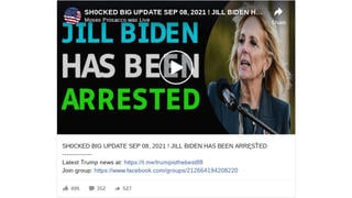 Fact Check: Jill Biden Was Not Arrested At Tyler Perry's House In Atlanta On Charges Of Elder Abuse