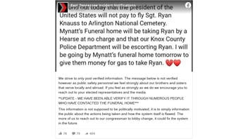 Fact Check: The President Did NOT Refuse To Pay To Fly Remains Of Sgt. Ryan Knauss To Arlington Cemetery