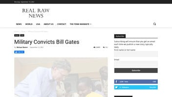 Fact Check: Military Did NOT Convict Bill Gates