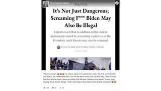 Fact Check: It Is NOT Illegal To Scream Expletives About U.S. President Joe Biden