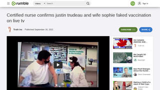 Fact Check: Video Does NOT Prove That Justin And Sophie Trudeau Faked COVID-19 Vaccinations -- Appropriate Procedure Was Used
