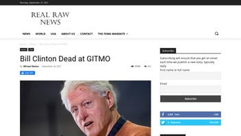 Fact Check: NO Evidence To Substantiate Article's Claim That Bill Clinton Was Found Dead At Guantanamo Bay