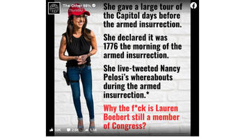 Fact Check: Rep. Boebert Did NOT Tweet Pelosi's Whereabouts During January 6 Insurrection, Only That Pelosi Had Been Evacuated