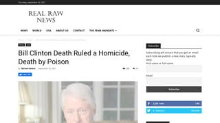 Fact Check: NO Evidence To Substantiate Report Bill Clinton Fatally Poisoned At Guantanamo
