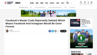 Fact Check: Facebook's Master Code Was NOT Deleted, Facebook And Instagram Are NOT 'Gone Forever'