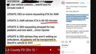 Fact Check: AMR Ambulance In LA County Did NOT Terminate 30% Of Employees For Refusing Mandated COVID-19 Vaccine