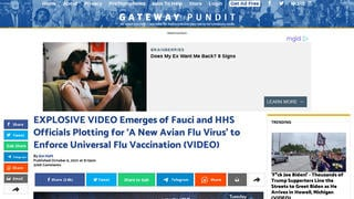 Fact Check: C-SPAN Video Does NOT Prove Fauci, HHS Officials Plotted 'Avian Flu Virus' Release To Enforce Universal Flu Vaccine