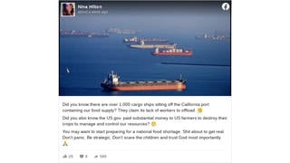 Fact Check: There Are NOT 'Over 1,000 Cargo Ships Sitting Off The California Port'