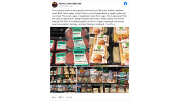 Fact Check: Oregon Measure Would NOT Ban Animal Meat, NOT Mandate 'Petri Dish' Meat -- But Beef Would Have To Die Of Old Age