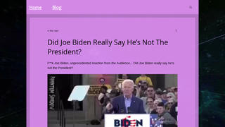 Fact Check: Biden DID Say That He Was Not President -- But He Said It As A Candidate Months Before He Was Elected