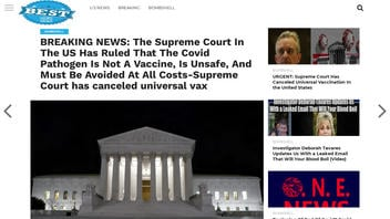 Fact Check: Supreme Court Has NOT Ruled That 'The COVID-19 Pathogen Is Not A Vaccine, Is Unsafe, And Must Be Avoided'