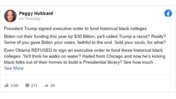 Fact Check: Biden Did NOT Cut HBCU Funding By $30 Billion -- But Congress DID Make Cuts To Biden's HBCU Funding Proposals