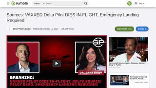 Fact Check: A 'VAXXED' Delta Pilot Did NOT Die In-Flight Requiring An Emergency Landing