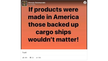Fact Check: U.S. Cargo Ship Backlog Is NOT Inconsequential And The U.S. DOES Make Products