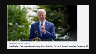 Fact Check: Post Claiming 'Joe Biden Declares Mandatory Vaccination for ALL Americans by October 30' Leads To Porn Page