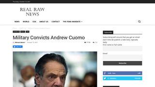 Fact Check: U.S. Military Did NOT Convict Ex-Gov. Andrew Cuomo