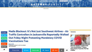 Fact Check: Jacksonville Air Traffic Controller Protest Over COVID Vaccine Did NOT Cause Delays -- Weather, Crew Positioning Caused The Cancellations