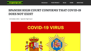 Fact Check: Spanish High Court Did NOT 'Confirm' That COVID-19 Does Not Exist