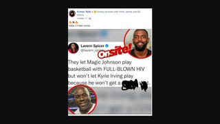 Fact Check: Magic Johnson's Ability To Play Basketball With HIV Is NOT Comparable To Kyrie Irving's Restriction Due To Being Unvaccinated