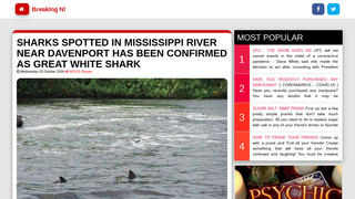Fact Check: Two Great White Sharks Were NOT Spotted In The Mississippi River Near Davenport, Iowa