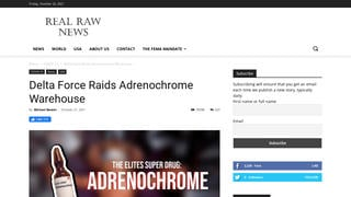 Fact Check: NO Evidence That U.S. Army 'Delta Force' Raided An Adrenochrome Warehouse On October 18, 2021