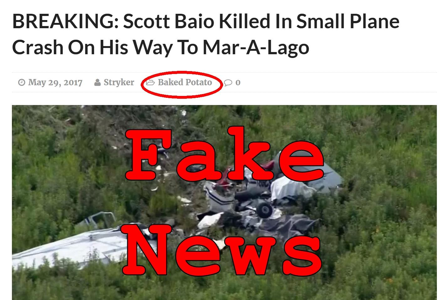Fake News: Scott Baio NOT Killed In Small Plane Crash On His Way To Mar-A-Lago