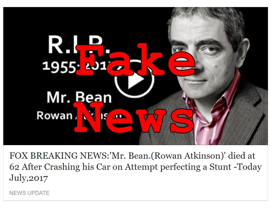 Fake News: 'Mr. Bean. (Rowan Atkinson)' Did NOT Die at 62 After Crashing His Car On Attempt Perfecting A Stunt