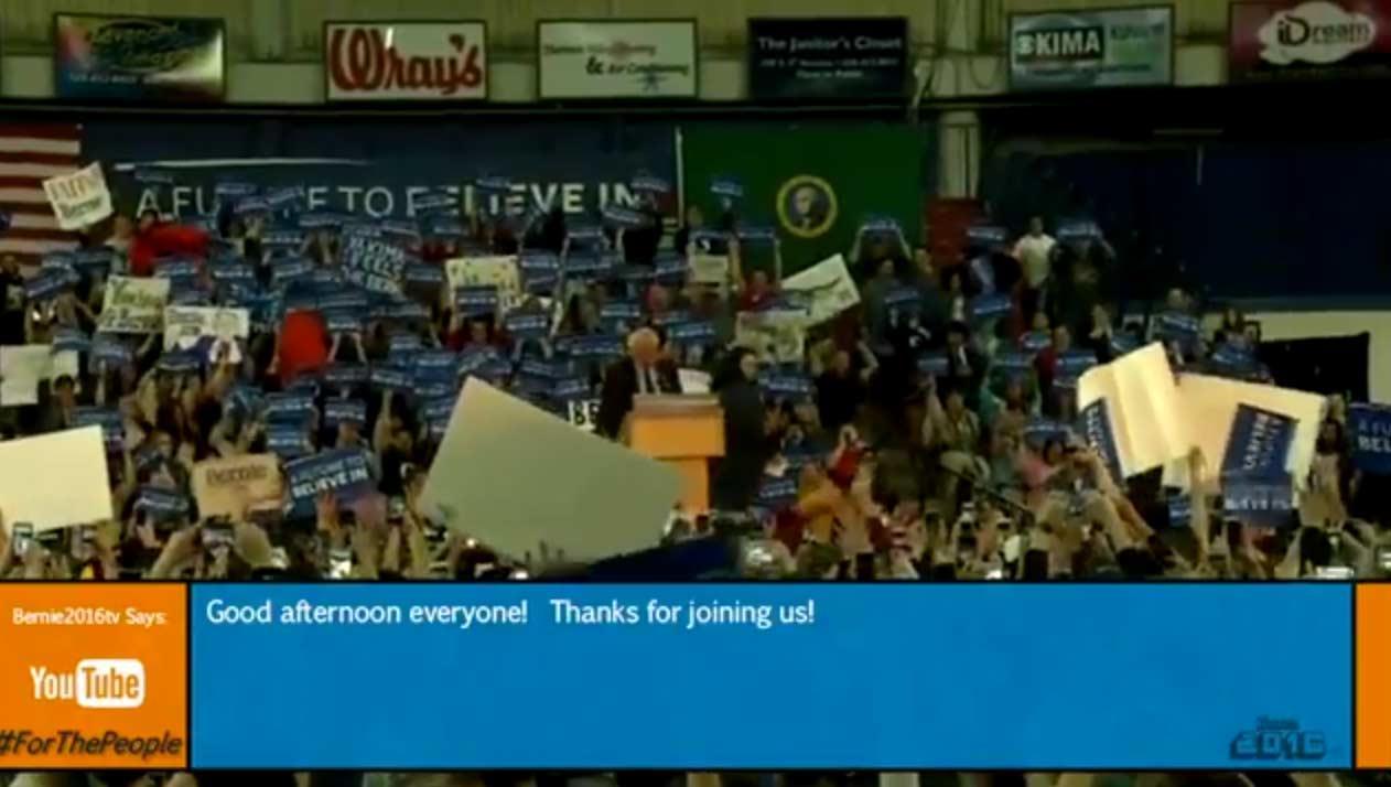 LIVE Stream: Bernie Sanders Rally in Yakima, WA (3-24-16)