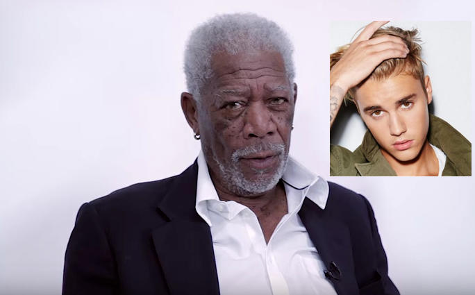 Watch: Morgan Freeman Dramatically Reads Justin Bieber's 'Love Yourself'