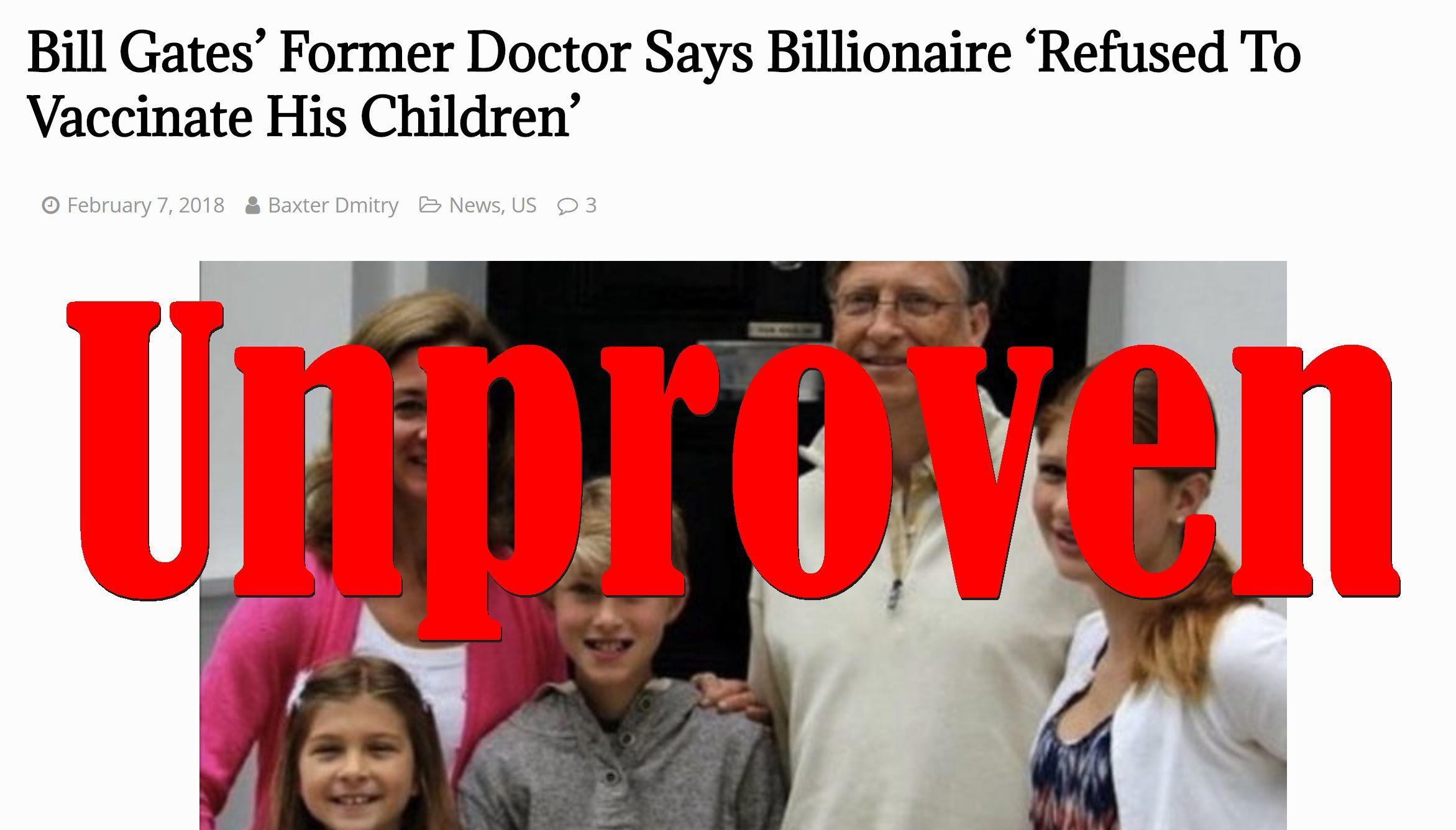 Fake News Former Bill Gates Doctor Did Not Say Billionaire Refused