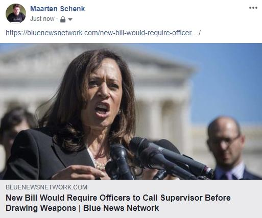 Fake News: NO New Bill That Would Require Officers to Call Supervisor Before Drawing Weapons